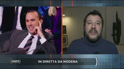 Salvini in diretta da Modena