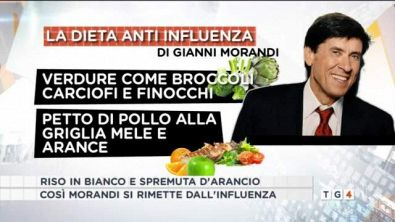 La dieta anti influenza di Gianni Morandi