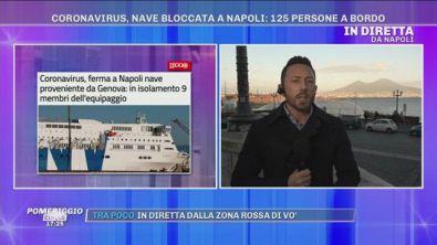 Coronavirus, nave bloccata a Napoli: 125 persone a bordo