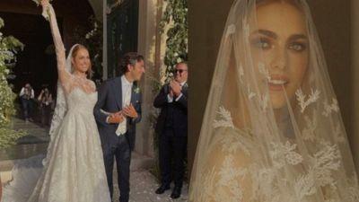 Le nozze di Miriam Leone: bellissima vestita da sposa