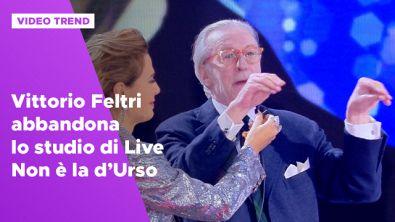 Vittorio Feltri abbandona lo studio di Live - Non è la d'Urso