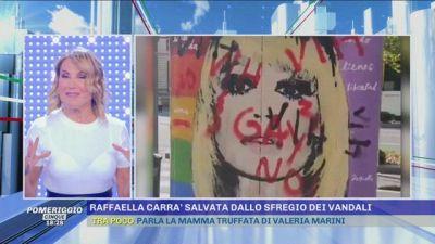 Raffaella Carrà salvata dallo sfregio dei vandali