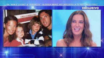 Alessia Merz e i suoi figli