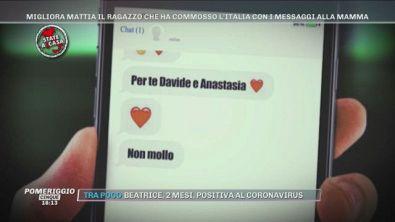 Migliora Mattia il ragazzo che ha commosso l'Italia con i messeggi alla mamma