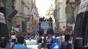 Europei, gli Azzurri in tour sul bus tra le vie di Roma