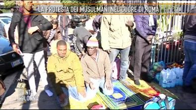 La protesta dei musulmani nel cuore di Roma