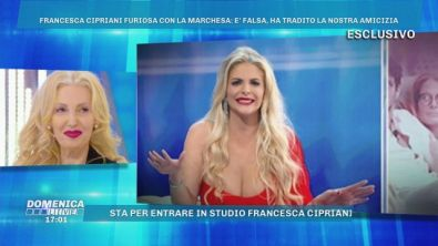 Francesca Cipriani furiosa