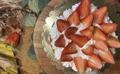 Torta con Fragole e Panna Gluten Free