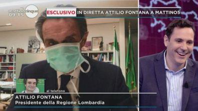 Esclusivo: Attilio Fontana a Mattino 5