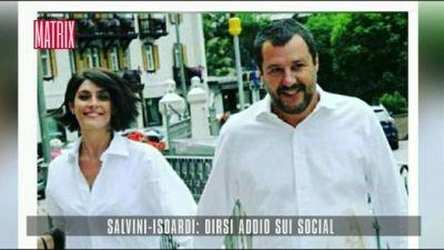 Salvini-Isoardi: dirsi addio sui social