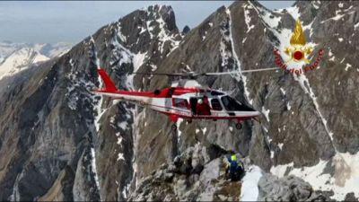 A Brescia salvataggio in alta montagna di due escursionisti