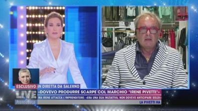 """""""Dovevo produrre scarpe col marchio Irene Pivetti"""""""