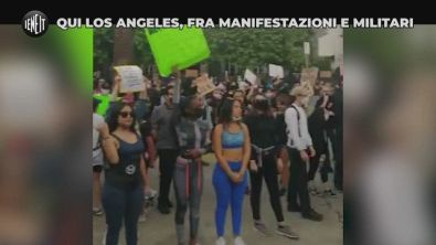 Qui Los Angeles, fra manifestazioni e militari