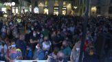 Barcellona, la manifestazione a sostegno di Puigdemont