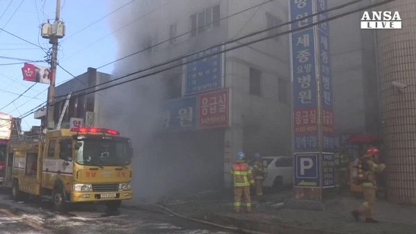 Incendio in Corea del Sud, oltre 40 morti