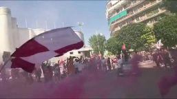 Salernitana in serie A, folla in strada: traffico bloccato
