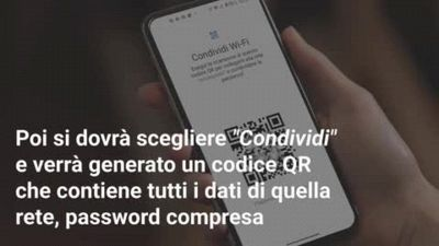 Come condividere la password WiFi col QR