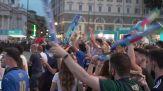 Europei, il fischio d'inizio in piazza a Roma tra i tifosi