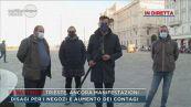 Trieste città bloccata, la rabbia dei commercianti