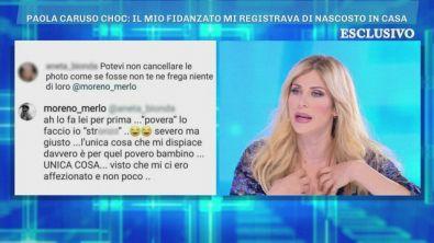 Lo scambio di messaggi tra Paola Caruso e Moreno Merlo