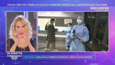 Covid: per chi torna in Sicilia tamponi rapidi all'aeroporto di Palermo
