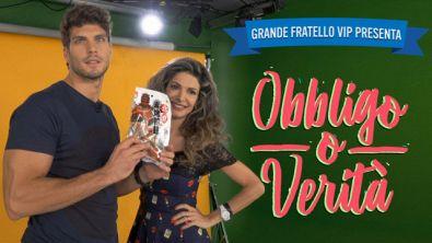 """#GFVIP presenta """"Obbligo o Verità"""" con Elia Fongaro e Maria Monsè"""