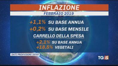 Inflazione in crescita, al top frutta, verdura
