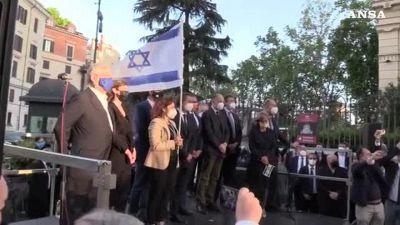 Israele, leader politici alla manifestazione di solidarieta' a Roma