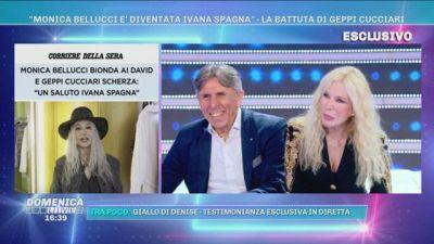 """""""Monica Bellucci è diventata Ivana Spagna"""" -La battuta di Geppi Cucciari"""