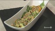 Insalata con avocado,noci, spinacino e arance