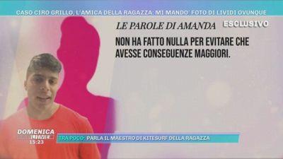 Caso Ciro Grillo, l'amica della ragazza: mi mandò foto di lividi ovunque
