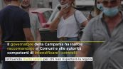 Mascherine all'aperto obbligatorie in Campania: multe salate per chi non rispetta le regole