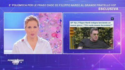 GFVIP - Barbara D'Urso indignata per le frasi di Filippo Nardi