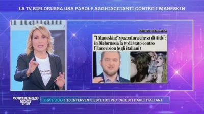 La tv Bielorussa usa parole agghiaccianti contro i Maneskin