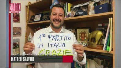 Metteo Salvini in collegamento telefonico