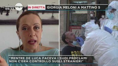 Giorgia Meloni a Mattino 5