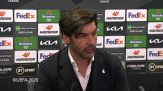 """Manchester United-Roma, Fonseca: """"Il rigore del 3-2 non c'era, e' stato decisivo"""""""