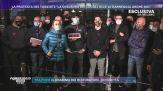 Covid-19, Milano: la protesta dei tassisti.
