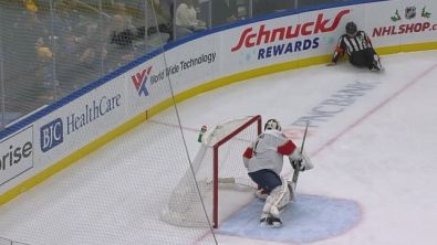 NHL, sponda con l'arbitro e gol