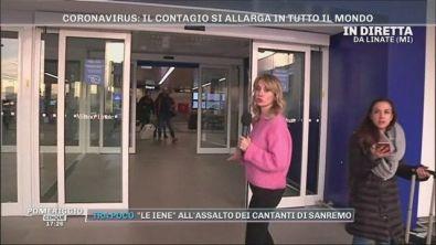 Coronavirus: in diretta da Linate