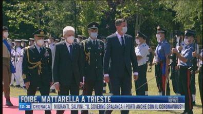 Breaking News delle 12.00 | Foibe, Mattarella a Trieste