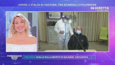 Il primo vaccinato in Italia