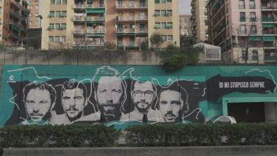 Inaugurato a Genova murales dedicato agli Ex-Otago