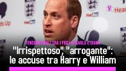 """Irrispettoso"", ""arrogante"": le accuse tra Harry e William"