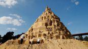 Costruito in Danimarca il più grande castello di sabbia di sempre