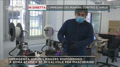 Coronavirus, l'impegno dei makers