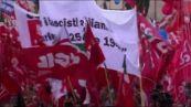 """""""Mai più fascismi"""", Landini: questa piazza rappresenta il Paese"""