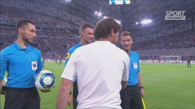 Marsiglia-Napoli 0-1, Mertens gol, Payet schiaffeggia Insigne