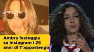 Ambra Angiolini festeggia su Instagram i 25 anni di T'appartengo