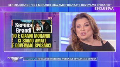 "Serena Grandi: ""Io e Gianni Morandi..."""